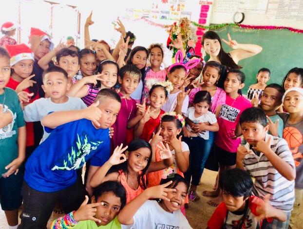 ミクロネシアの小学生